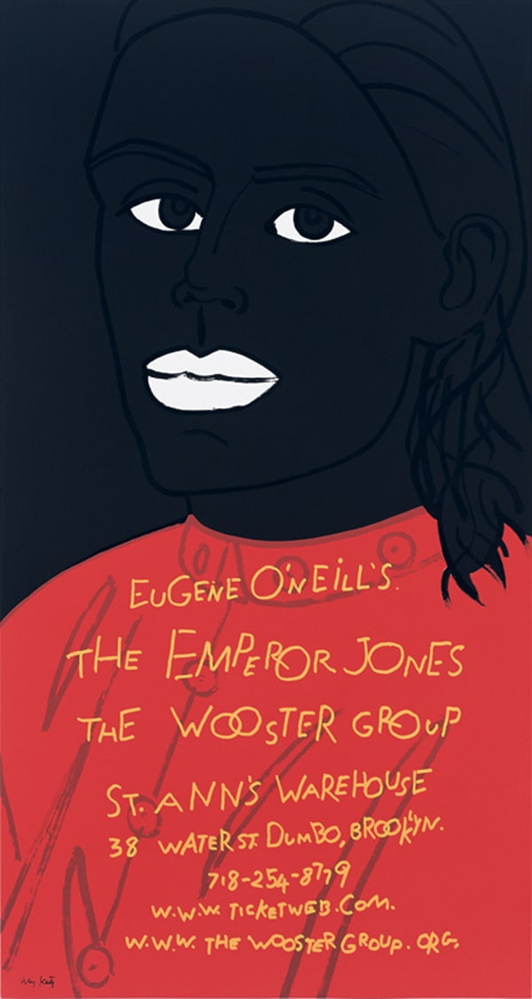 Sciami|ricerche - Theatre Anthropology - The Wooster Group. The emperor Jones. Poster. Print by Alex Katz.