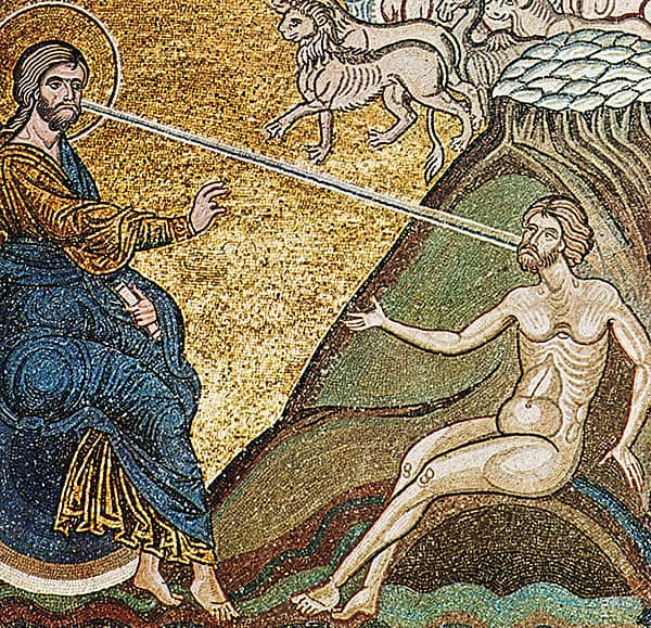Anonimo, <em>Creazione di Adamo</em>, XII-XIII sec., Duomo di Monreale