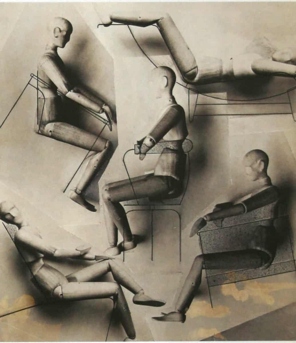 Charlotte Perriand: Etude ergonomique des sièges adaptées aux position du mannequin (1928)
