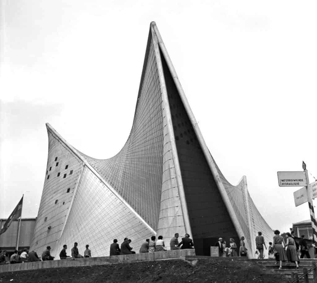 Le Corbusier, Iannis Xenakis, Edgar Varèse, <em>Poème Électronique</em>, Philips Pavilion, International Exhibition in Brussels, 1958