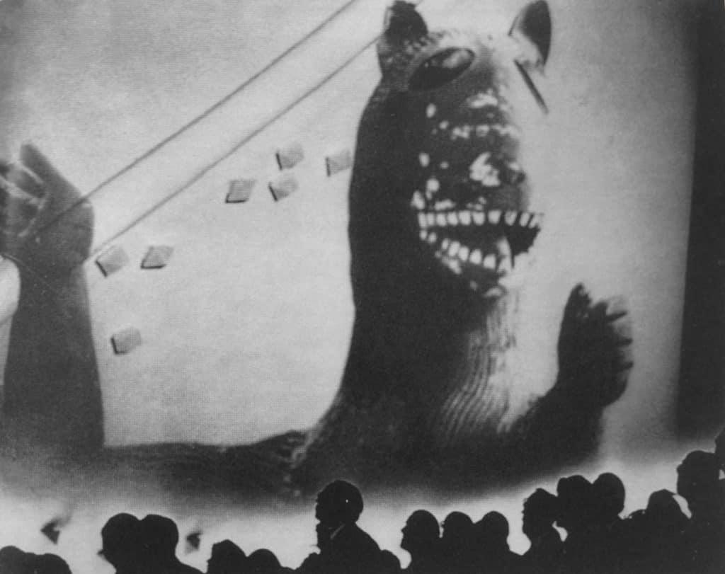 Le Corbusier, Iannis Xenakis, Edgar Varèse, Poème Électronique, proiezioni all'interno del padiglione, Padiglione Philips, Esposizione Internazionale di Bruxelles, 1958
