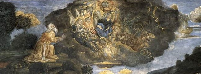 Cosimo Rosselli, <em>Discesa dal monte Sinai</em> (particolare), 1481-1482, Cappella Sistina