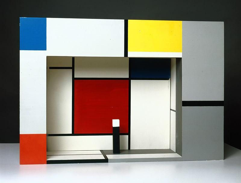 "Piet Mondrian, <em>Progetto di scenografia per ""L'Effimero è eterno""</em> di Michel Seuphor, 1926"