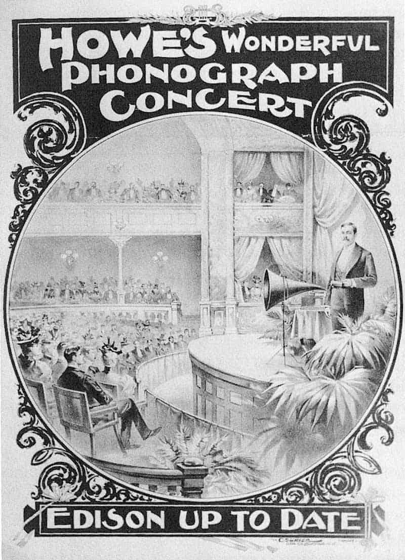 Manifesto concerto fonografo di Edison
