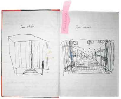 Janet Cardiff e George Bures Miller, <em>Playhouse</em>, 1997. Bozzetto.
