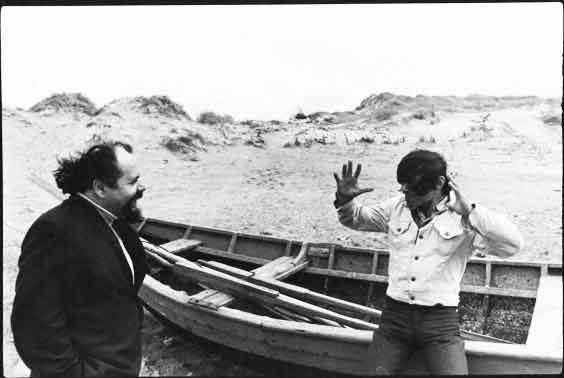 Ludwik Flaszen and Ryszard Cieślak sulla costa danese del Mar Baltico, 1971. Foto di Andrzej Paluchiewicz.