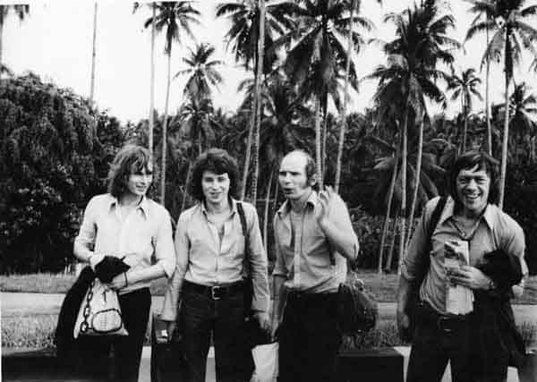 Jacek Zmysłowski, Zbigniew Kozłowski, Stanisław Scierski e Ryszard Cieślak in Australia nella primavera del 1974. Foto di Andrzej Paluchiewicz.