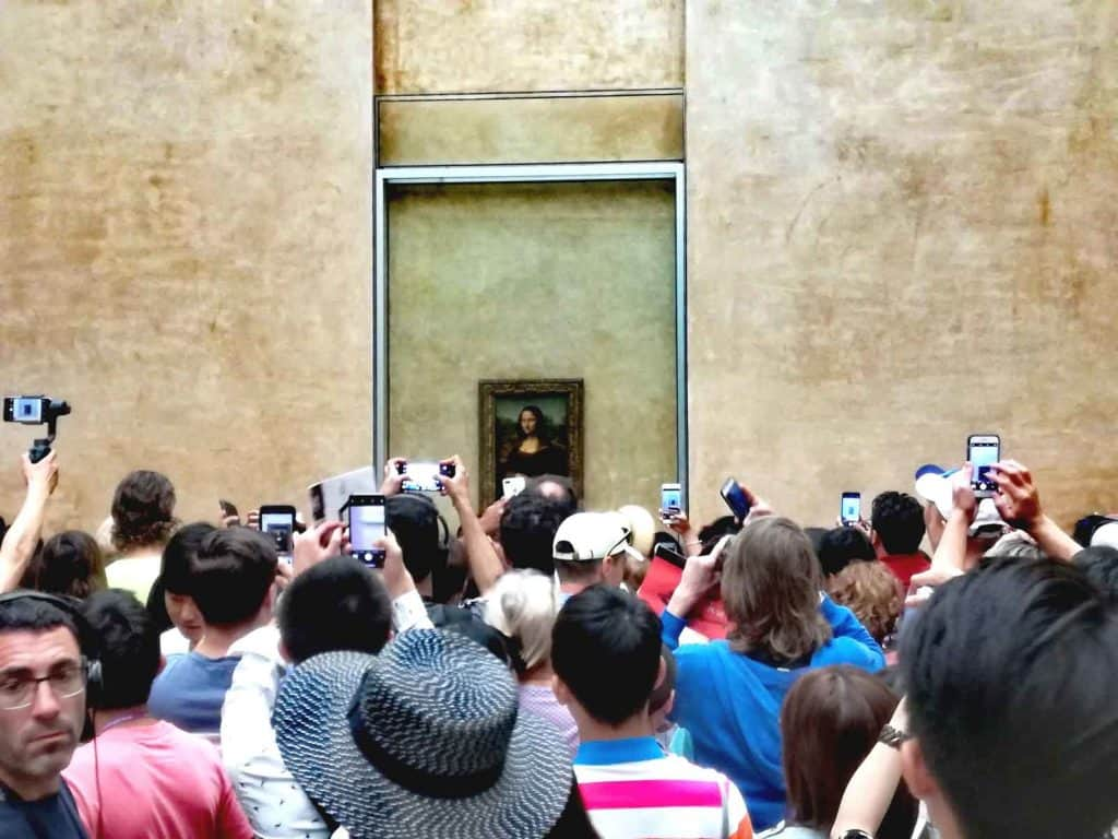 Leonardo da Vinci, La Gioconda , 1503, Louvre museum, Paris. Photo of 16 July 2018 by Anna Pirri.