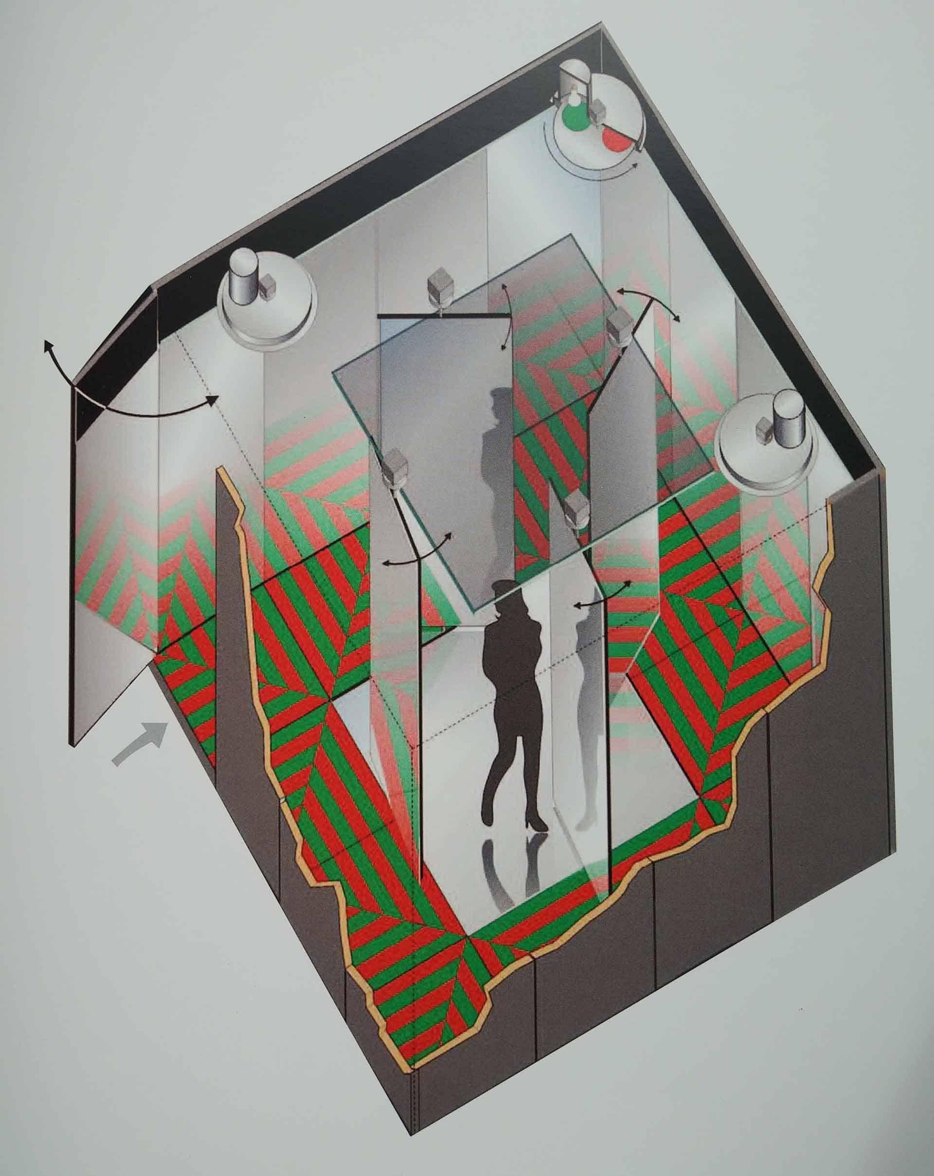Davide Boriani, «Ambiente stroboscopico 3», Galleria del Naviglio, Milano, 1968.