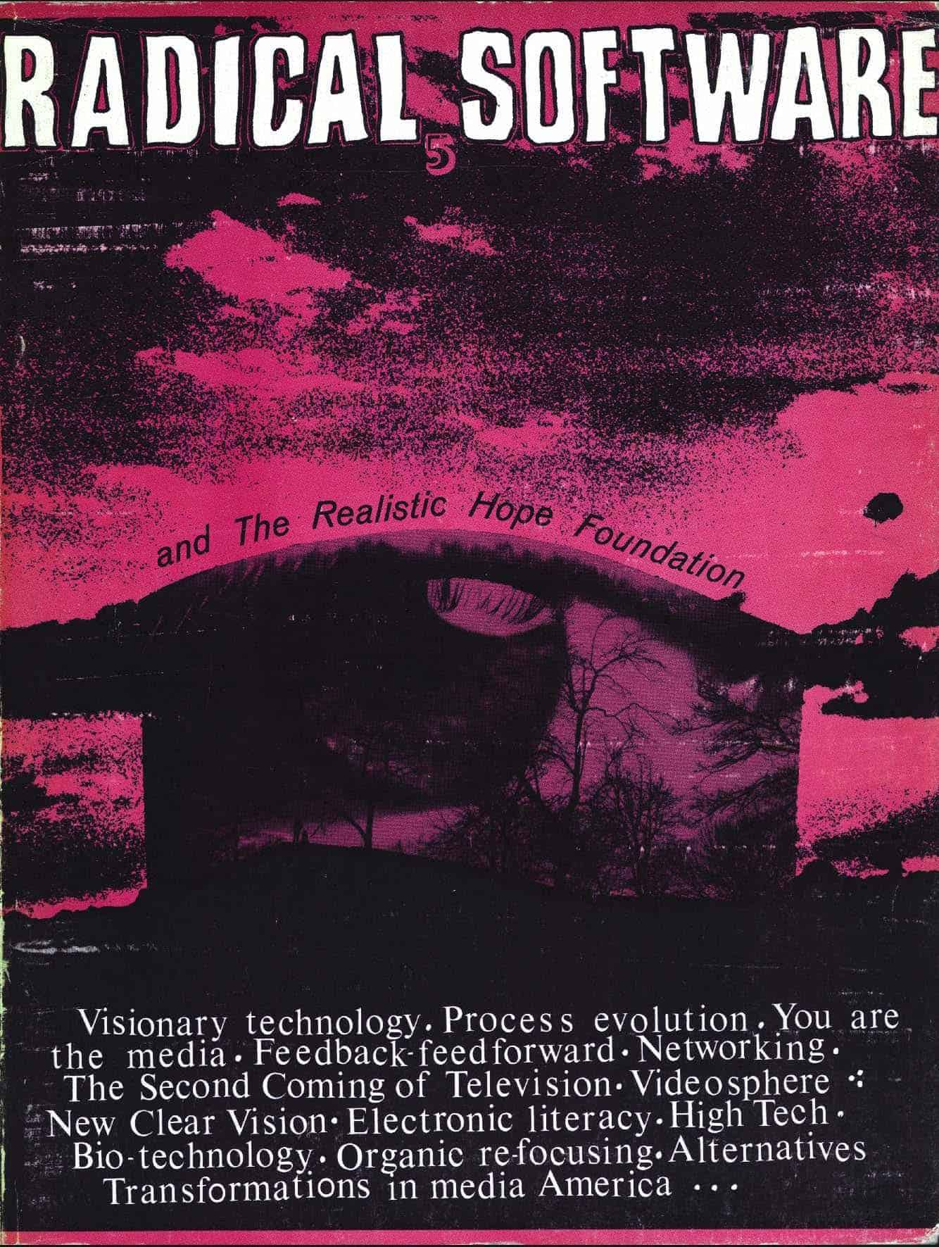 Copertina di  «Radical Software», Anno I, n.5, 1972.