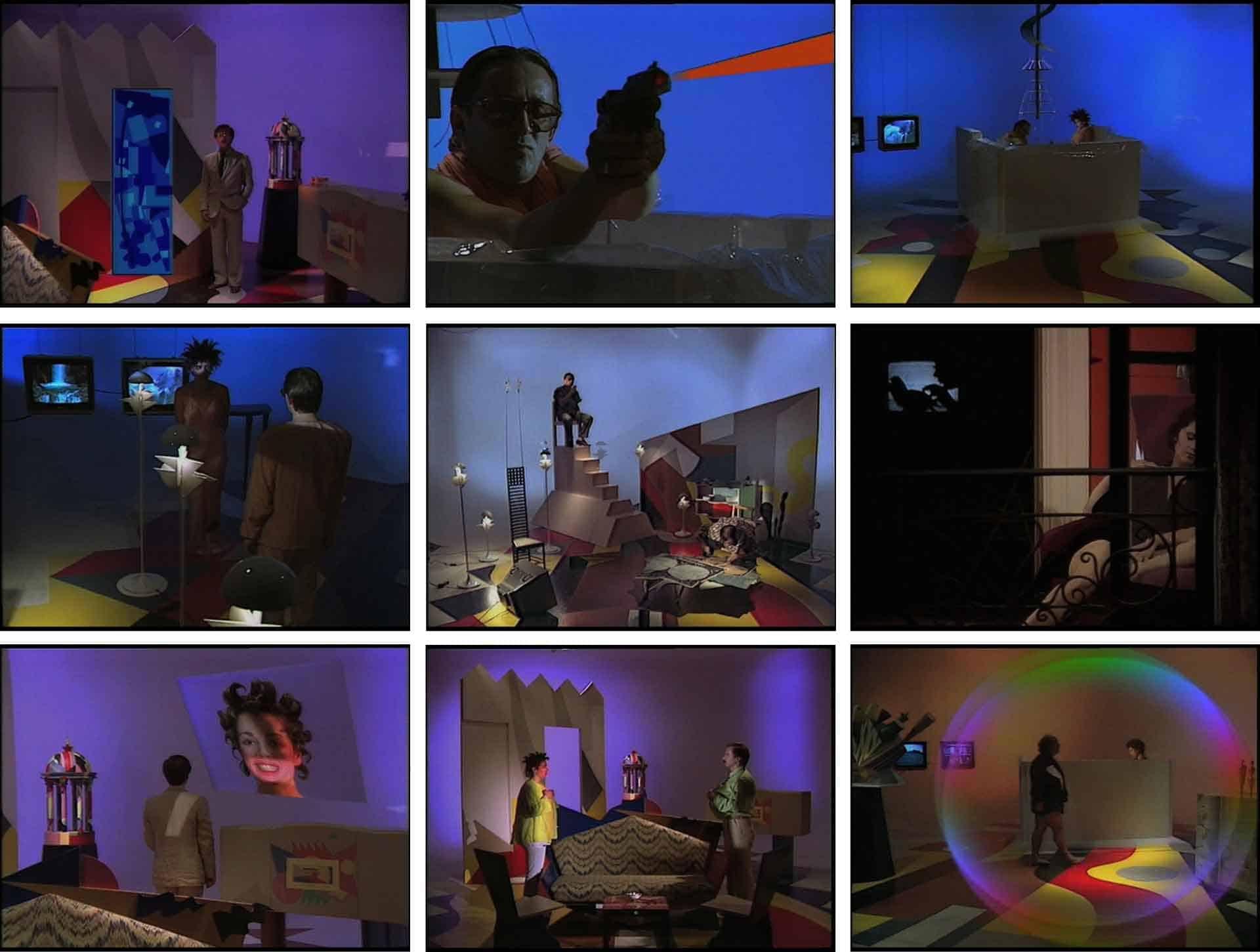 Frames da Metamoprhosi, «Aggiornato definitivo con le ultime variazioni», 1985, video, 63', Colore. Archivio Marco Poma.