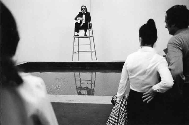 Gino De Dominicis, Tentativo, 1973, foto di Elisabetta Catalano, Archivio Elisabetta Catalano.