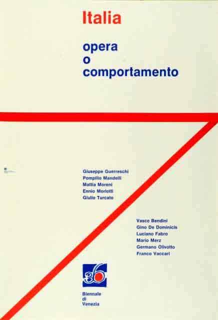 Locandina Opera o Comportamento, La Biennale di Venezia 1972. Archivio ASAC.
