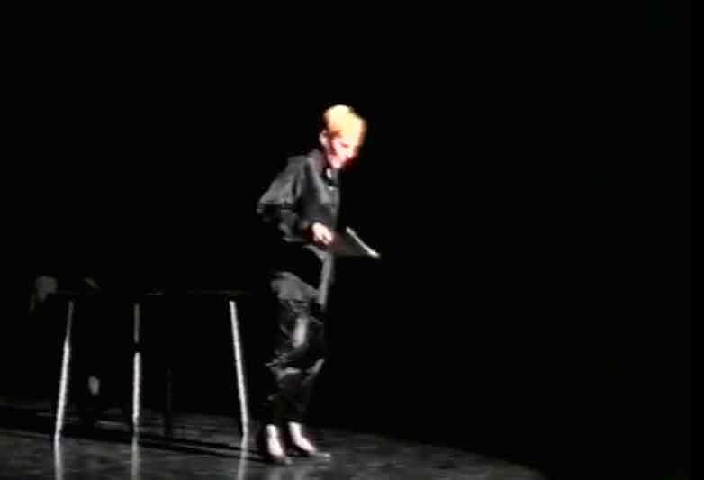 Patrizia Vicinelli, Letture da Messmer, Teatro Due Parma, 1986. Archivio di Versi in Versi