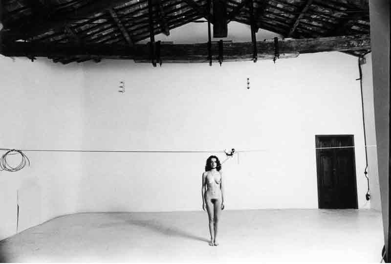 Vettor Pisani, Lo Scorrevole (1972), foto di Elisabetta Catalano, Archivio Elisabetta Catalano.