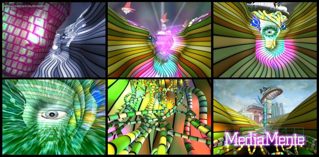 Frame dalla sigla di MediaMente, 1999 (Archivio Altair4 Multimedia).