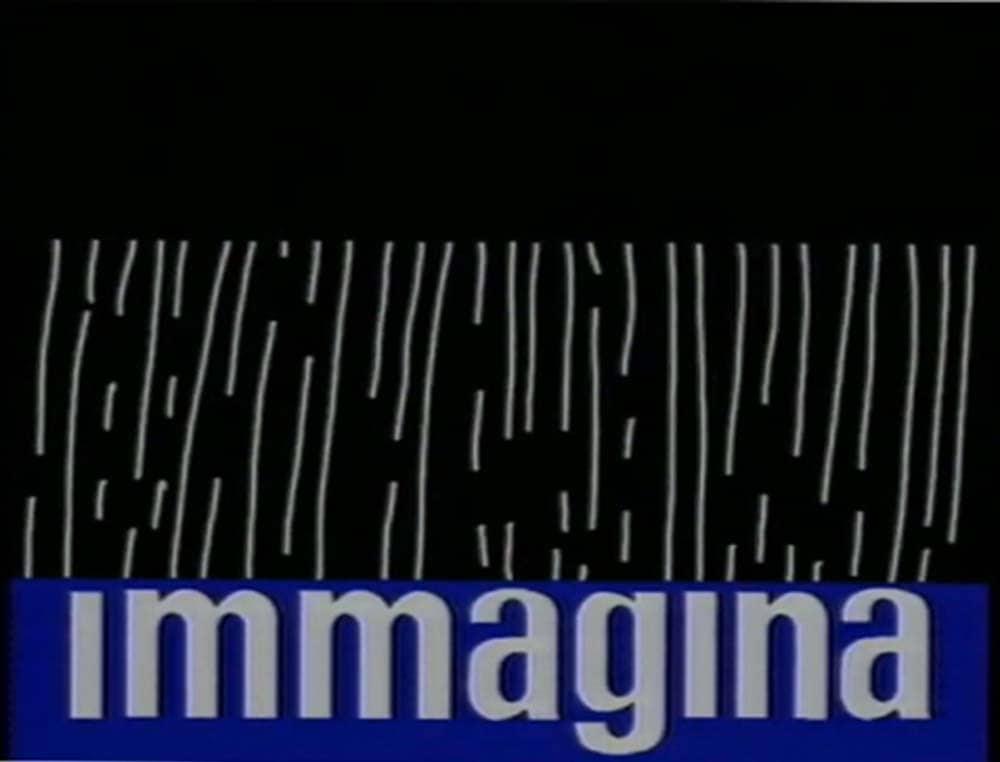 Mario Convertino, Ranuccio Sodi, siparietto di Immagina, still da video, 1987.