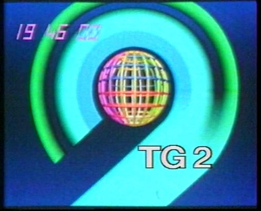 Mario Sasso, sigla del Tg2, 1984, still da video