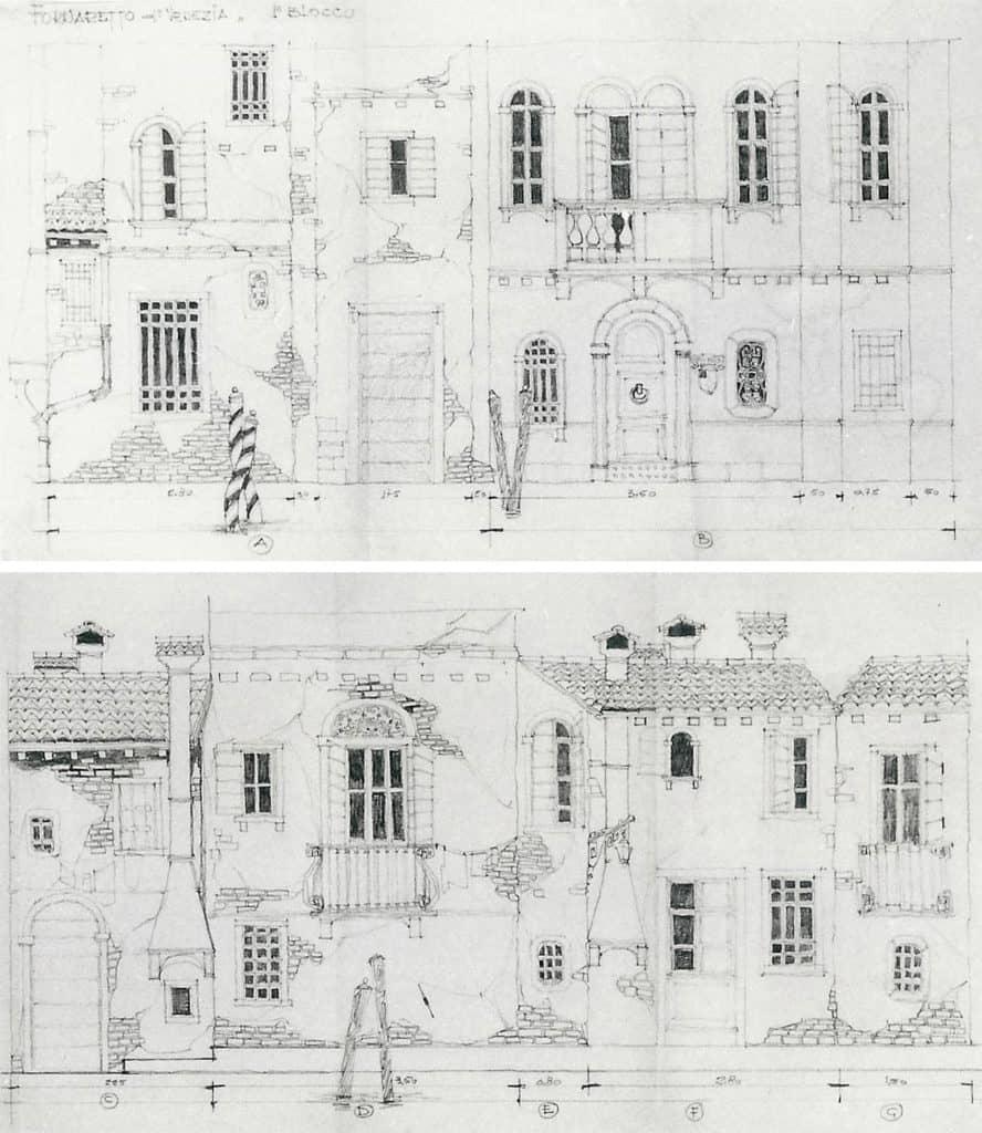 Pino Pascali, bozzetto scenografico, <em>Il Fornaretto di Venezia</em>, <em>Biblioteca di Studio Uno</em>, 1964. Courtesy Fondazione Pino Pascali. Archivio Pino Pascali, Polignano a Mare, Bari.