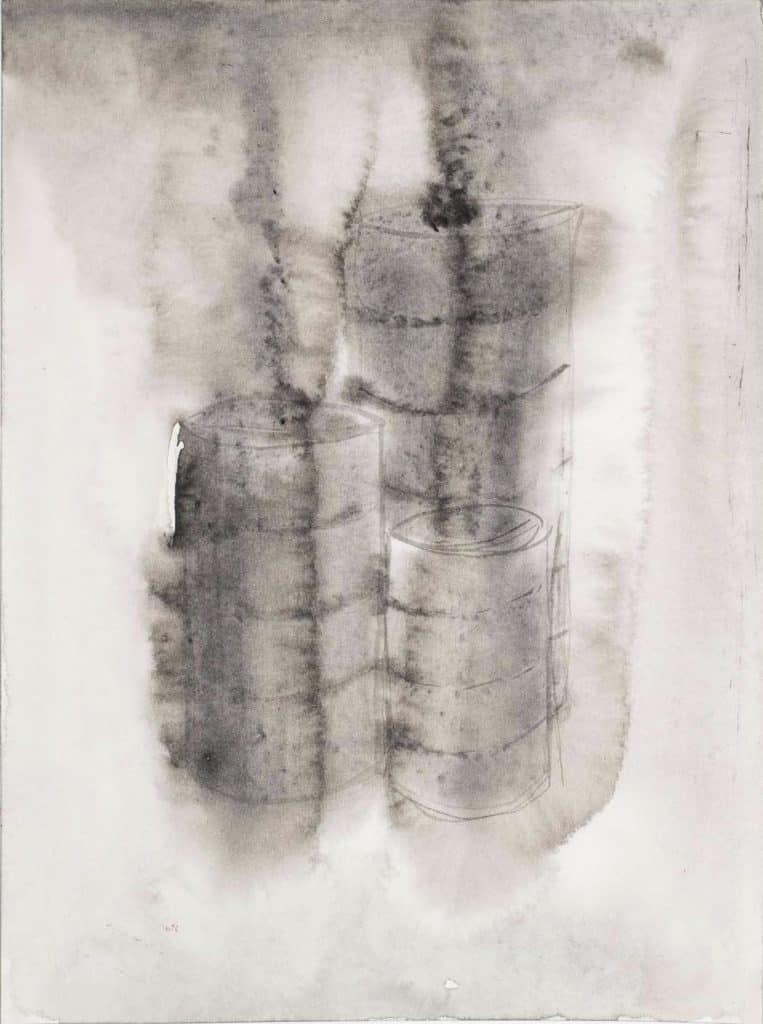 Alfredo Pirri, 2020. Progetto per l'opera Fuoco, Cenere, Silenzio, acquerello su carta Arches cm 23 x 31.