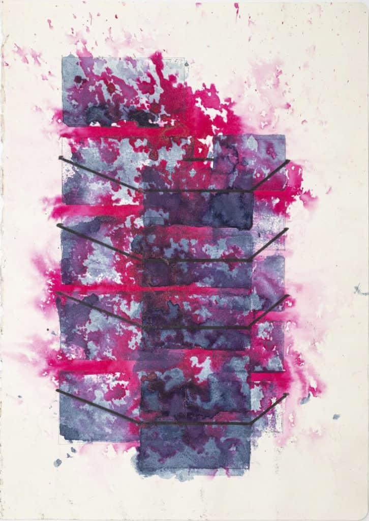 Alfredo Pirri, 2020. Progetto per l'opera Fuoco, Cenere, Silenzio, acquerello su carta Moleskine cm 21 x 30.