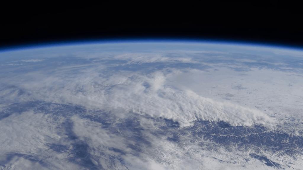 Immagine da materiali video della stazione spaziale orbitante (ISS) selezionati da Andrea De Rosa (fonti di pubblico dominio messe a disposizione da ESA/NASA).