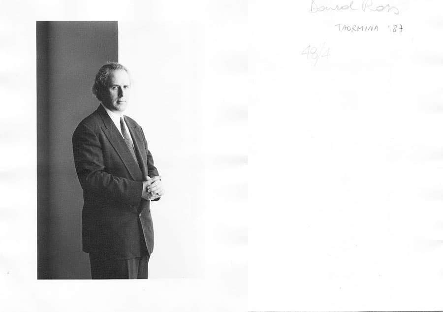 David Ross, 1987. Rassegna internazionale video d'autore. Taormina.