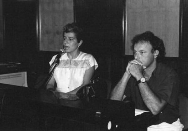 Valentina Valentini e Paolo Rosa, 1990. Rassegna internazionale video d'autore. Taormina.