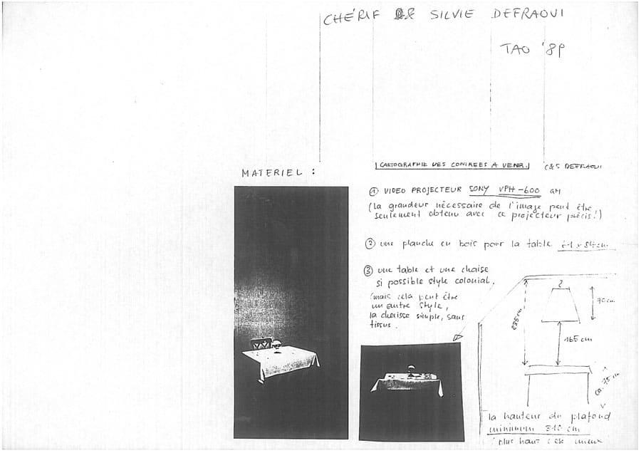 Silvie & Chérif Defraoui. Cartographies des contrées à venir. 1989. Foto di Enrico Cocuccioni. Rassegna internazionale del video d'autore. Taormina.