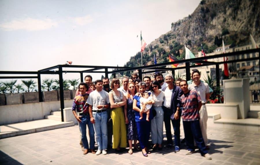 Rassegna internazionale video d'autore. Taormina. 1991. Foto di Enrico Cocuccioni.