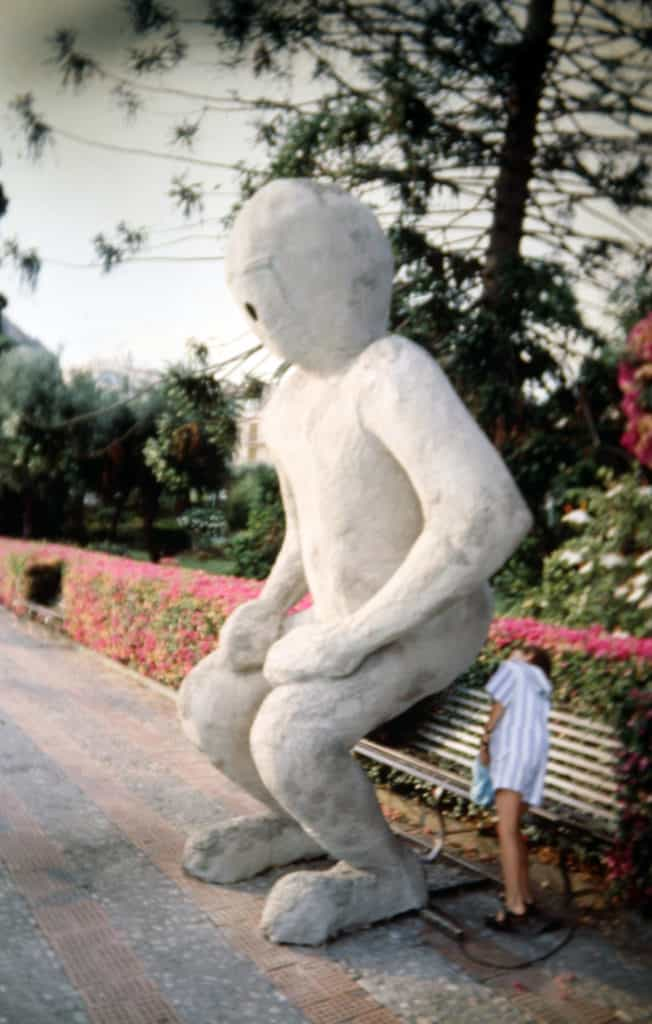 Vito Acconci. Telebodies. 1991. Foto di Enrico Cocuccioni. Rassegna internazionale del video d'autore. Taormina.