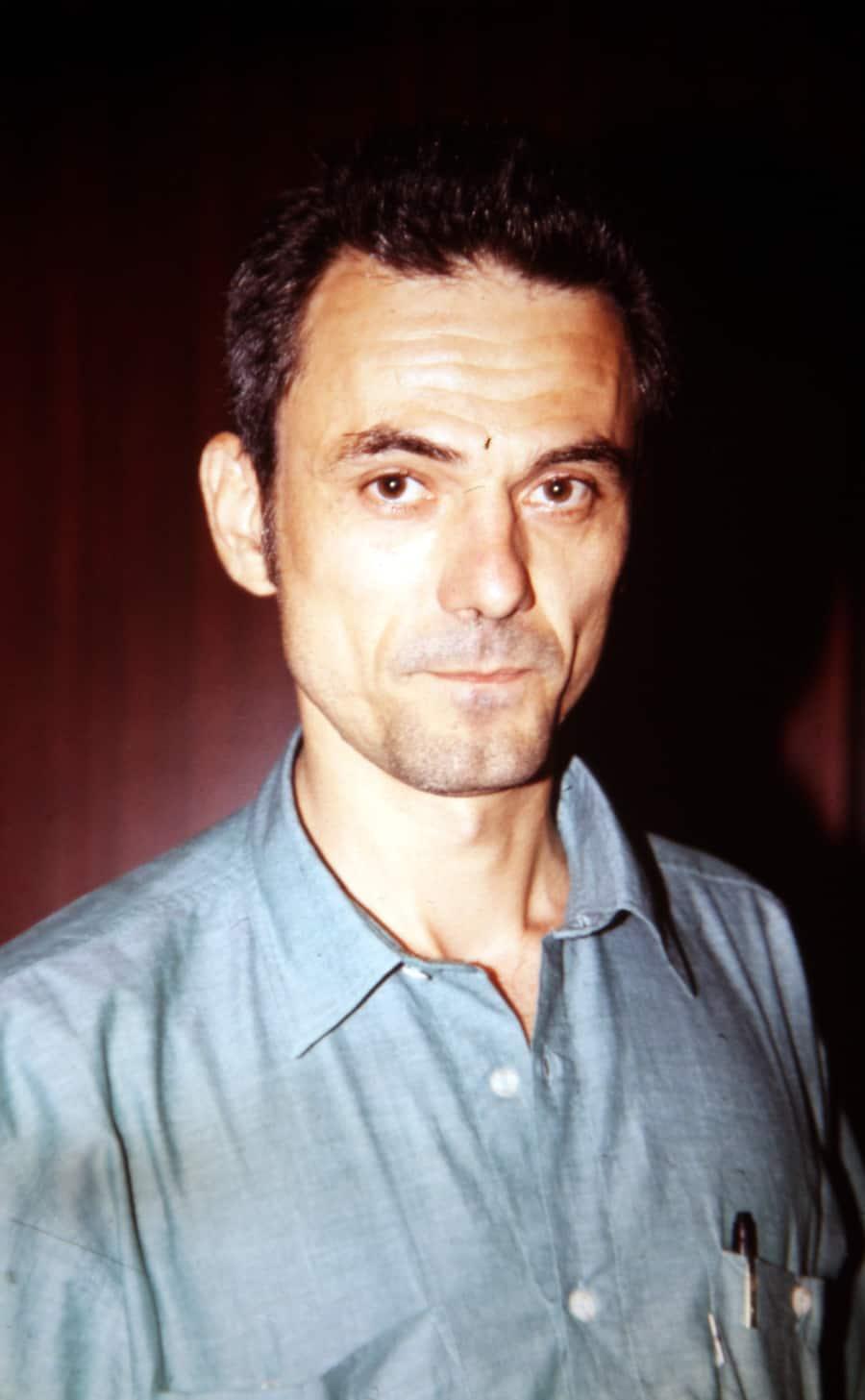 Gusztav Hamos, 1991. Foto di Enrico Cocuccioni. Rassegna internazionale video d'autore. Taormina.
