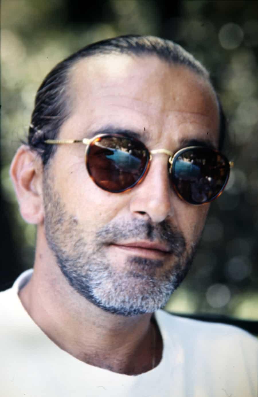 Mario De Candia, 1991. Foto di Enrico Cocuccioni. Rassegna internazionale video d'autore. Taormina.