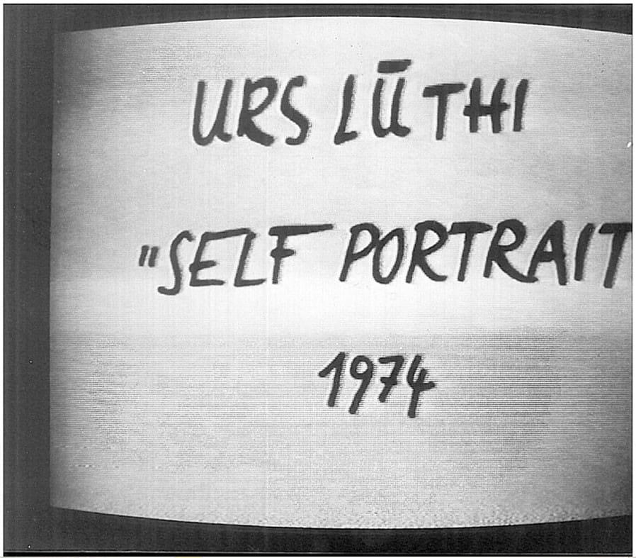 Urs Luthi, Self Portrait, 1974