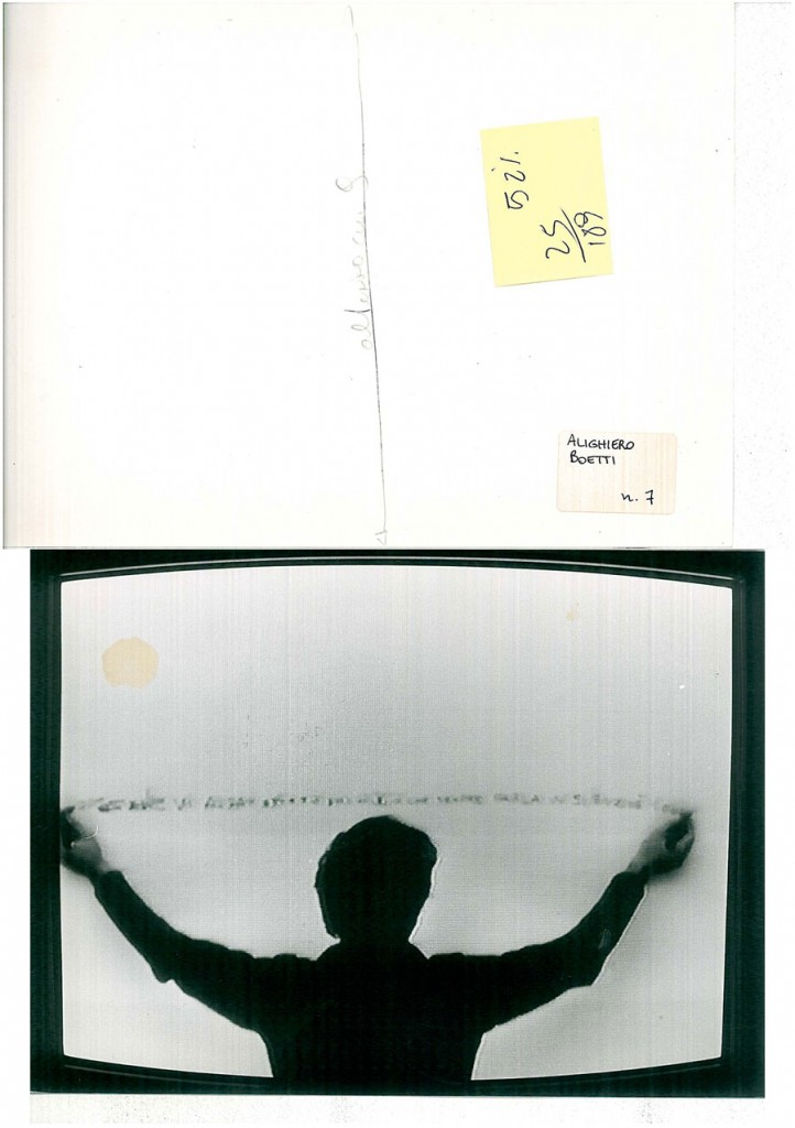 Alighiero Boetti, 1970 in Identifications di Gerry Schum