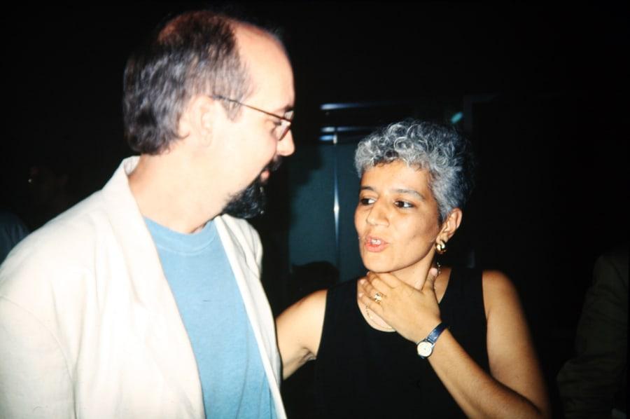 Bill Viola e Valentina Valentini, 1993. Foto di Enrico Cocuccioni.