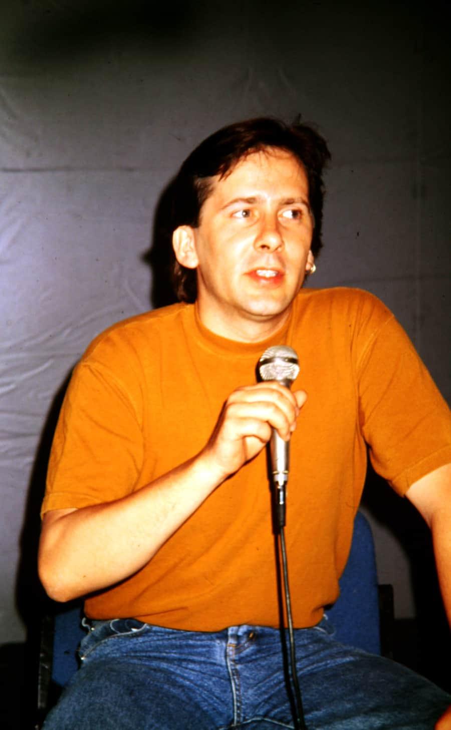 Gavin Hodge (Gorilla Tapes), 1994. Rassegna internazionale video d'autore. Taormina.