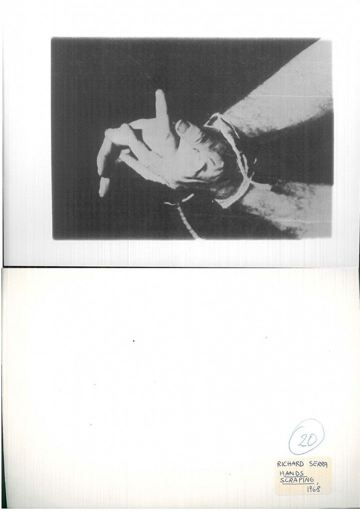 Richard Serra, Hands Tied e Hands Scraping, 1968