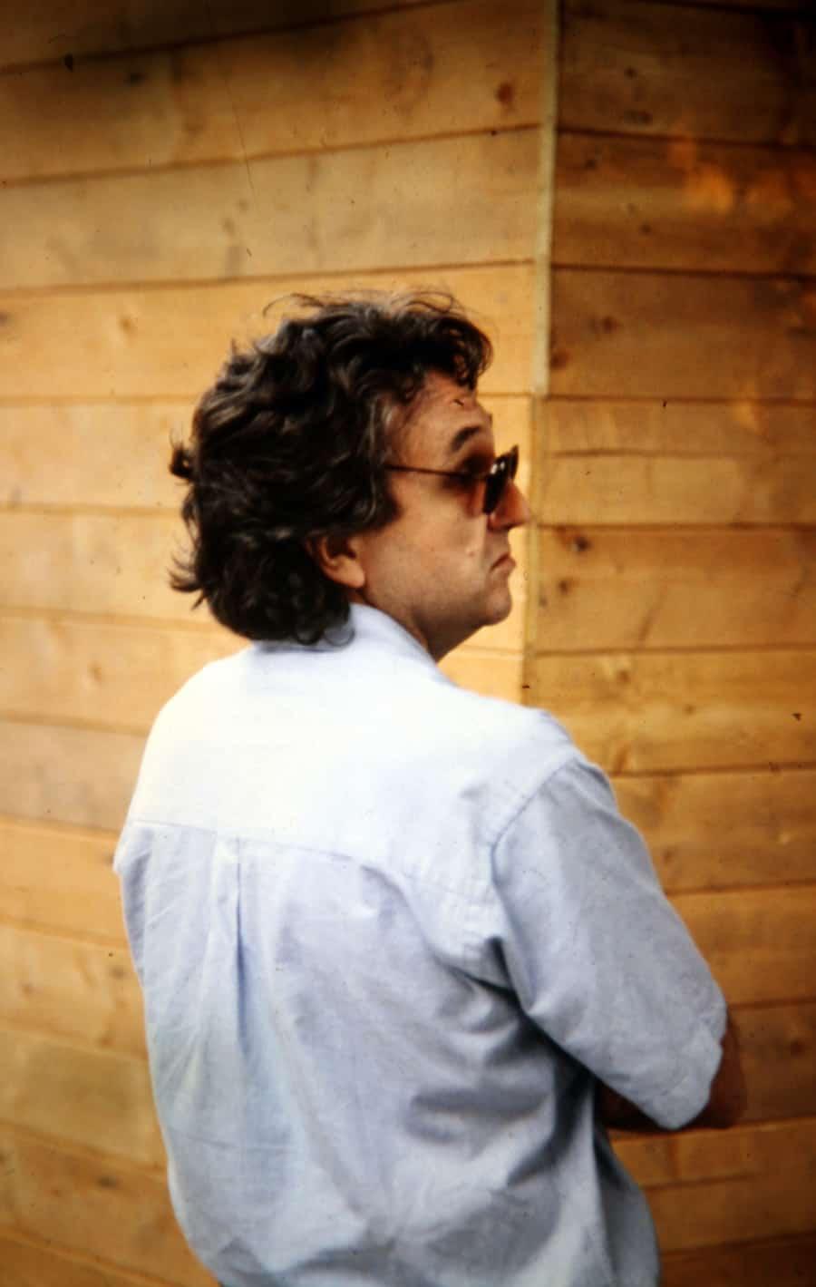 Antoni Muntadas, 1991. Foto di Enrico Cocuccioli. Rassegna internazionale video d'autore. Taormina.