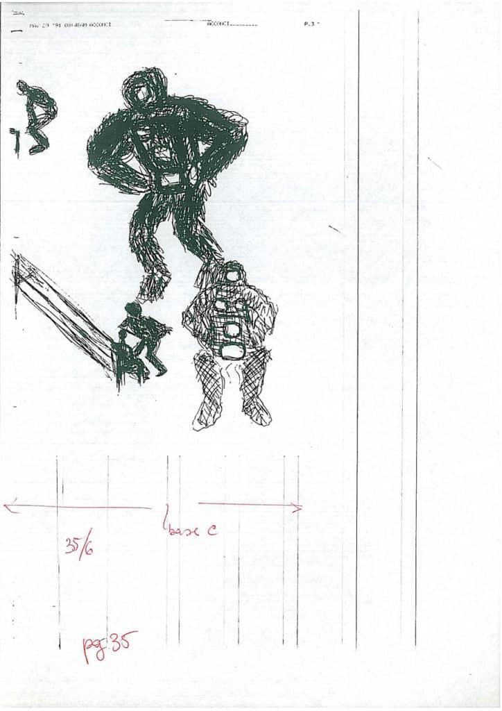Vito Acconci. Telebodies. 1991. Disegno. Rassegna internazionale del video d'autore. Taormina.
