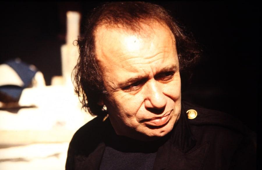 Vito Acconci, 1991. Foto di Enrico Cocuccioli. Rassegna internazionale video d'autore. Taormina.