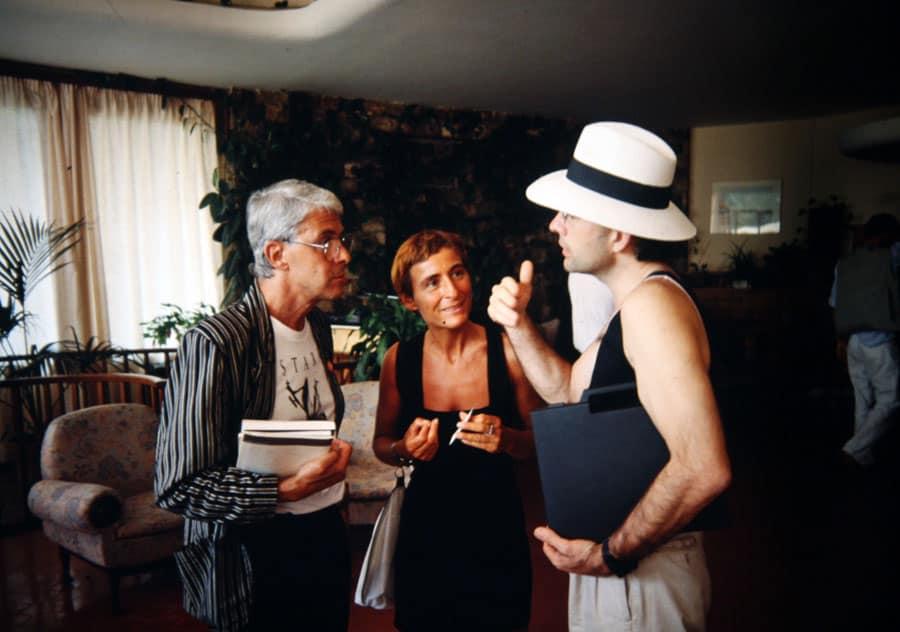 Gianfranco Mantegna e Marlene Puccini, 1990. Rassegna internazionale video d'autore. Taormina.
