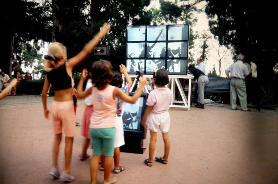 Giovanotti Mondani Meccanici. Silicon Sounds for Dusty Actors. 1990. Rassegna internazionale del video d'autore. Taormina.