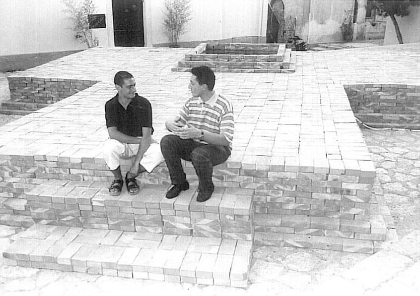Alfredo Pirri. L'alba, il giorno. 1988. Alfredo Pirri e Sandro Lombardi.