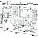 Teatro XIV Triennale MIlano. 1968. Pietro Derossi. PIanta. Pubblicata in Derossi, Angeli, «L'avventura del progetto. L'architettura come conoscenza, esperienza, racconto», Franco Angeli, 2012.