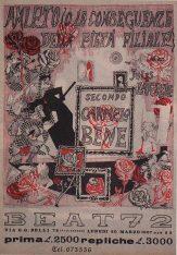 Poster of 'Amleto o le conseguenze della pietà filiale' by Tonino Caputo 1967