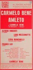 Locandina dell'Amleto recitato al teatro Alfieri di Torino nel 1975. (Archivio dell'Orsa, Torino)