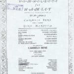Hommelette for Hamlet (operetta inqualificabile),by Carmelo Bene, Poster Stable Theater in Turin, November 1987