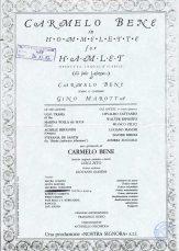 Hommelette for Hamlet (operetta inqualificabile), Locandina Teatro Stabile di Torino, novembre 1987