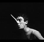 Carmelo Bene (Pinocchio) in Pinocchio, Teatro Centrale, Roma, 1966. foto Claudio Abate